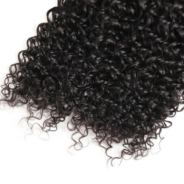 Lakihair 8A Peruvian Virgin Human Hair Kinky Curly 4 Bundles With Lace Closure 4x4