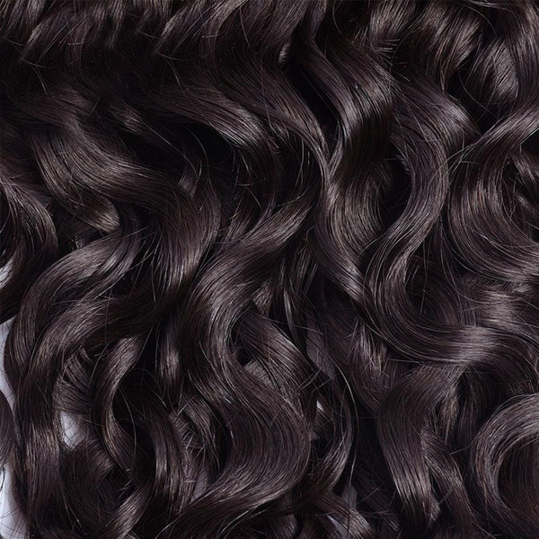Lakihair 8A Indian Virgin Human Hair Water Wave 4 Bundles With Lace Closure 4x4