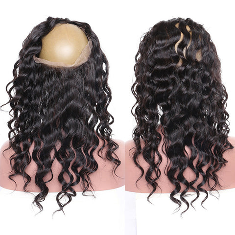 Lakihair 360 Lace Frontal Closure With Baby Hair Loose Wave 8A Brazilian