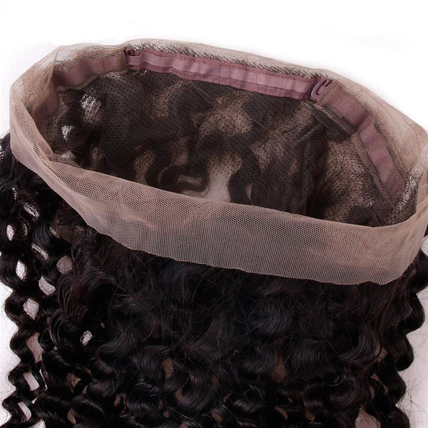 Lakihair 8A Brazilian Kinky Curly 360 Lace Frontal Closure Virgin Human Hair Frontal Pre Plucked