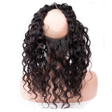 Lakihair 8A Grade Virgin Human Hair Water Wave 2 Bundles With 360 Lace Frontal