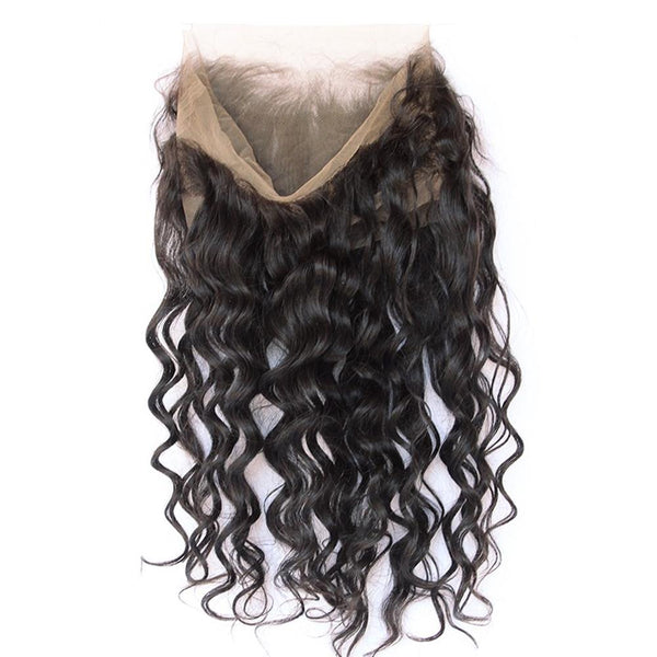 Lakihair 8A Loose Wave Virgin Human Hair 2 Bundles With 360 Lace Frontal