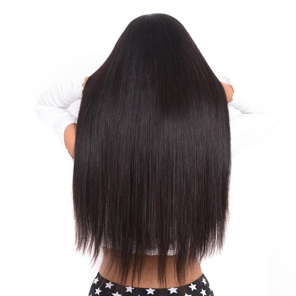 Lakihair 100% Unprocessed Human Hair Mid-Length Silky Straigh2t Lace Front Wigs With Baby Hair 1