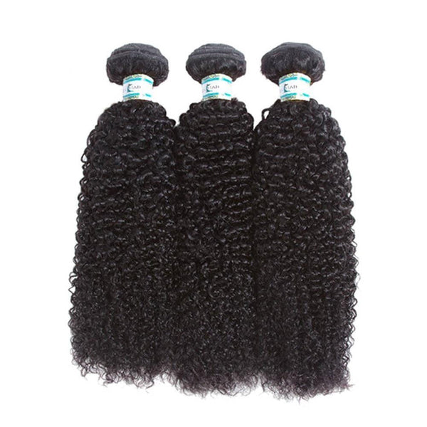 Lakihair 8A Peruvian Kinky Curly Virgin Human Hair 3 Bundles Hair Extensions