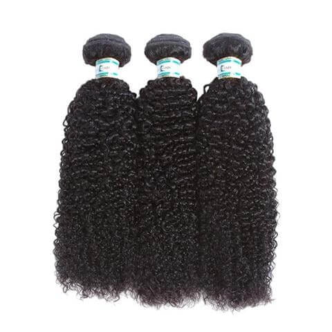 Lakihair 8A Brazilian Virgin Human Hair 3 Bundles Kinky Curly Hair Extensions
