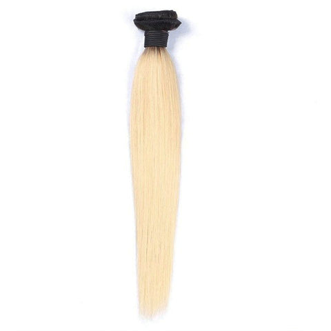 Lakihair 8A Brazilian Straight 1B/613 Blonde 1 Bundle Virgin Human Hair Weaving