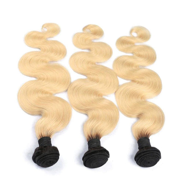 Lakihair 8A 1B/613 Blonde 1 Bundle Body Wave Hair Weaving Brazilian Virgin Human Hair