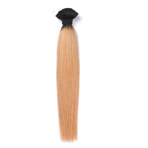 Lakihair 8A 1B/27 Blonde Ombre Straight Hair 1 Bundle Brazilian Virgin Human Hair