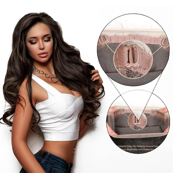 Lakihair 8A Grade Virgin Human Hair Body Wave 2 Bundles With 360 Lace Frontal