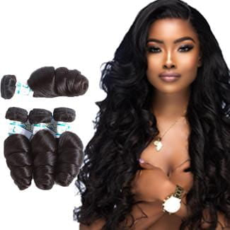 Lakihair 8A Virgin Human Hair Loose Wave 4 Bundles Hair Extensions