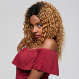 Lakihair 8A Honey Blonde 1B27 Deep Wave 3 Bundles Ombre Human Hair Colored Bundles