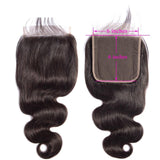 Lakihair  8A Brazilian Virgin Hair 3 Bundles Body Wave Weave With Lace Closure 6*6