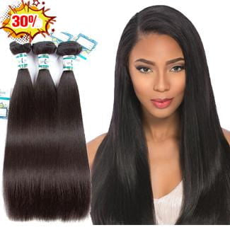 Lakihair 8A Brazilian 3 Bundles Deal Straight Virgin Human Hair Weaving