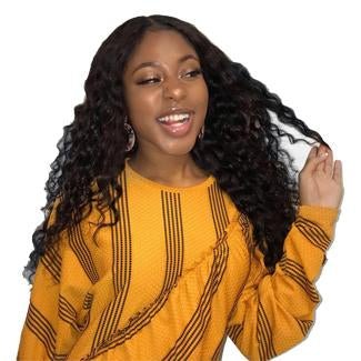 Lakihair 10A Brazilian Human Hair Deep Wave 3 Bundles With Lace Frontal 13x4 Pre Plucked