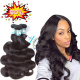 "Lakihair 8A  Brazilian Virgin Hair Body Wave 14"" 16"" 18"" 3 Bundles Human Hair 100% Unprocessed"