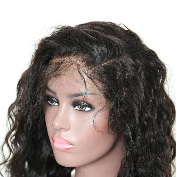 Lakihair 360 Lace Frontal Wigs With Baby Hair 180% Density Loose Wave 8A Brazilian Human Hair