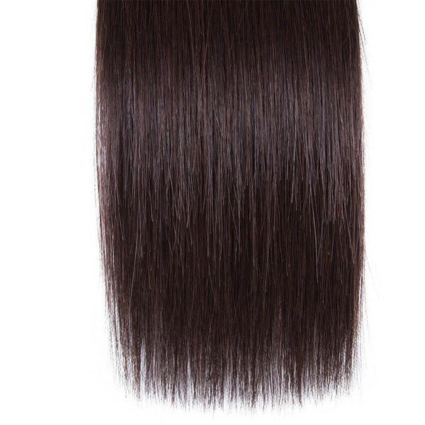 Lakihair Brazilian 10A Straight Hair Color 2 Virgin Human Hair 1 Bundle 2# Colored Hair Weave