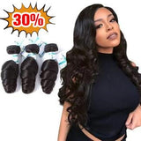 Lakihair 8A  Loose Wave 3 Bundles 100% Unprocessed Virgin Human Hair Bundles