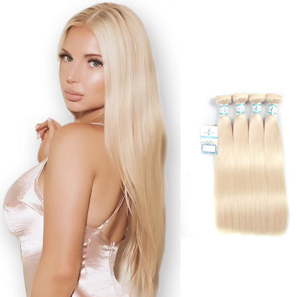 Lakihair 10A Top Grade Straight 4 Bundles 613 Blonde Human Hair Best Virgin Brazilian Hair