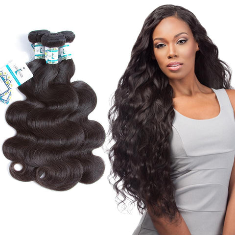 Lakihair 8A Peruvian Virgin Human Hair Weaving Body Wave 3 Bundles Deal