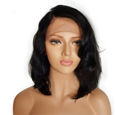 Lakihair Lace Front Wigs Body Wave 100% Unprocessed Short Human Hair Wigs With Baby Hair