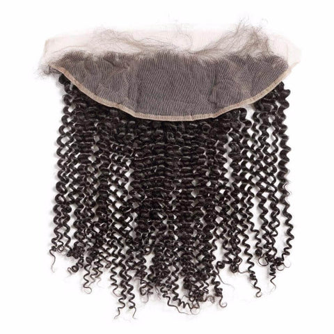 Lakihair 10A Brazilian Virgin Human Hair Kinly Curly 13x4 Lace Frontal Ear To Ear