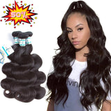 "Lakihair Body Wave 12"" 14"" 16"" Unprocessed Virgin Human Hair 3 Bundle Brazilian Hair"