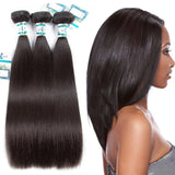 Lakihair 8A Peruvian Straight Hair 3 Bundles Virgin Human Hair Weaving