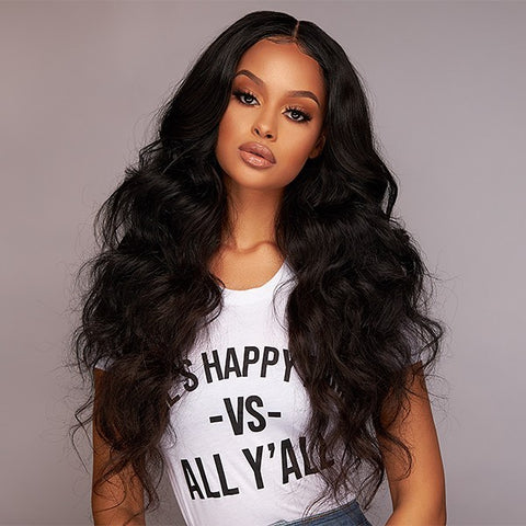 Lakihair 13x6 Lace Frontal Wig Human Hair Wigs Remy Hair Body Wave With Baby Hair Lace Wigs