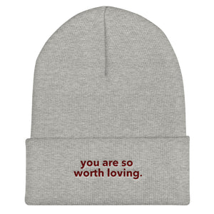 You Are Embroidered Beanie // Unisex
