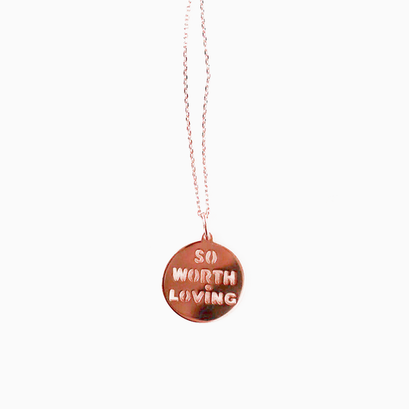 Rose Gold Necklace // Rosie