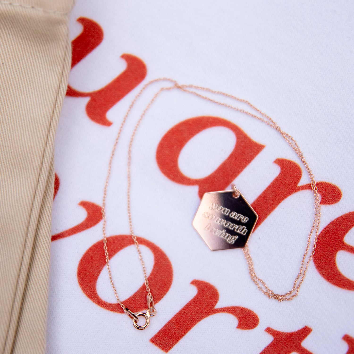You Are Rosie – Engraved Necklace