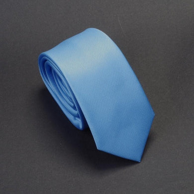 Classic Formal Solid Skinny Tie - Light Blue