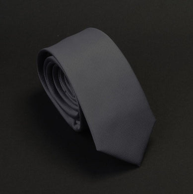 Classic Formal Solid Skinny Tie - Charcoal