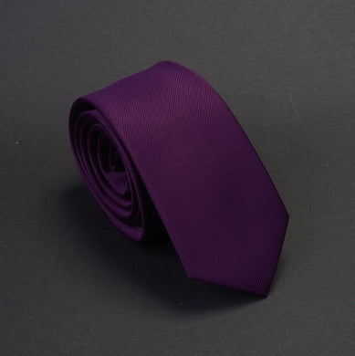 Classic Formal Solid Skinny Tie - Royal Purple