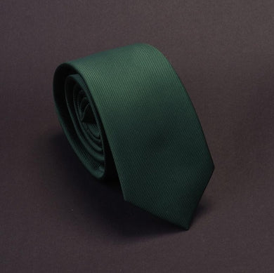 Classic Formal Solid Skinny Tie - Forest Green