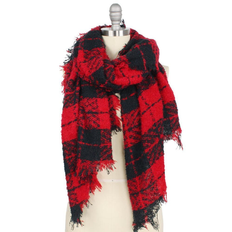 Black/Red Scarf - Shop Juni