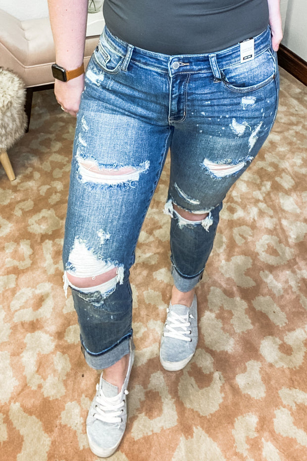 Judy Blue Bleach Splatter Jeans - Shop Juni