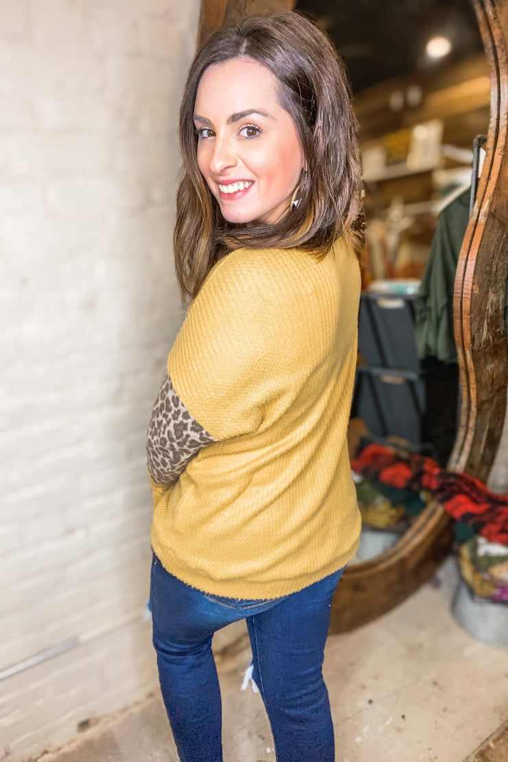 MUSTARD THERMAL LEO TOP - Shop Juni