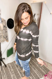 TIE DYE TUNIC LENGTH SWEATER TOP - Shop Juni