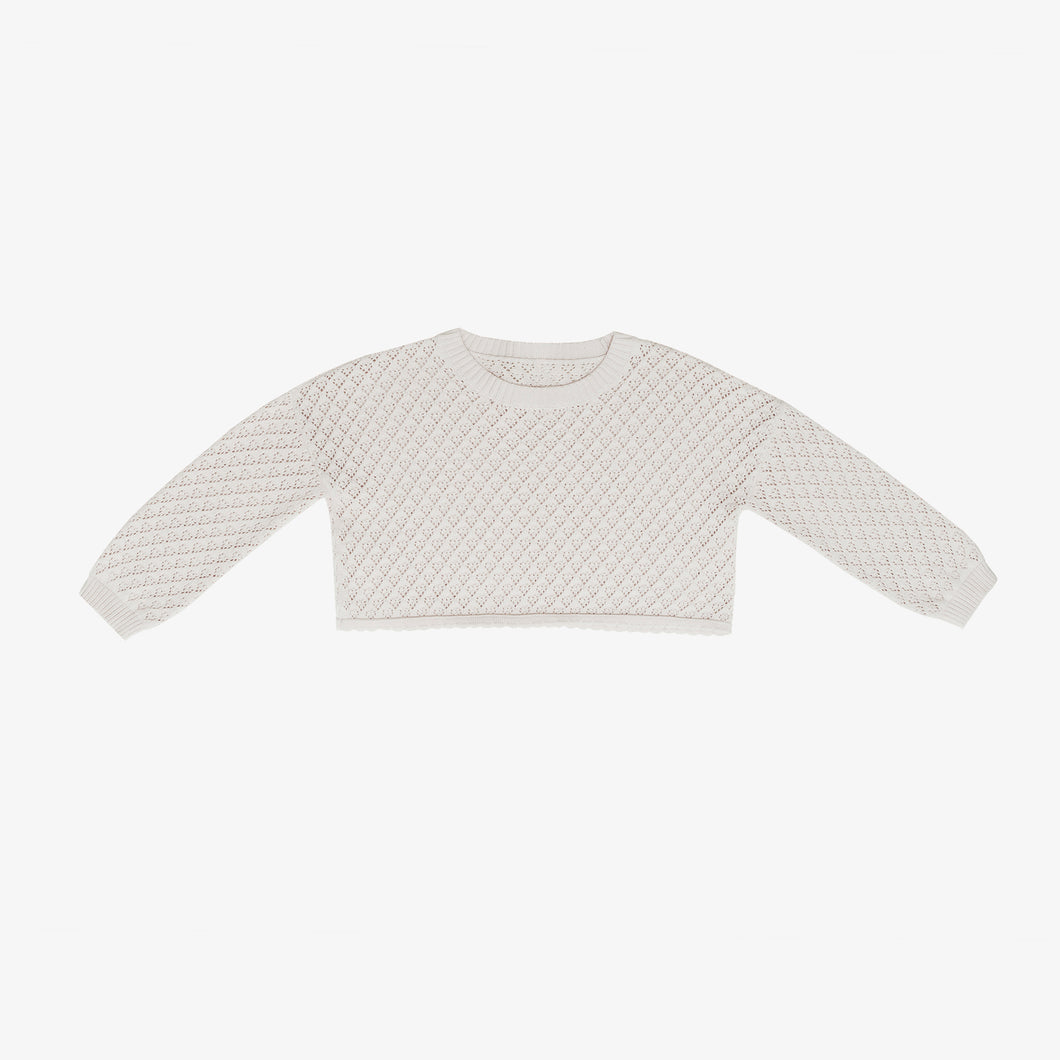 Lulu Crop Sweater, Mist