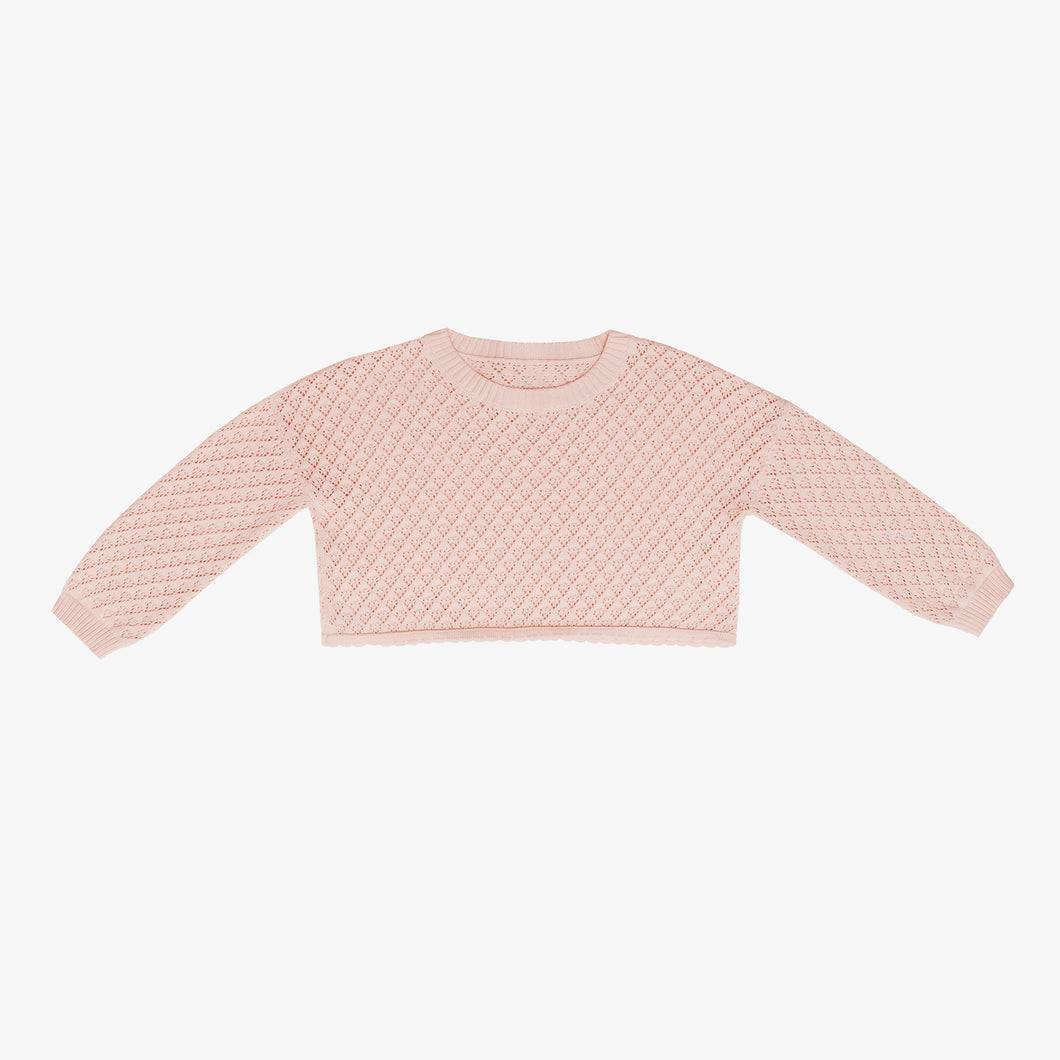 Lulu Crop Sweater, Peach Blossom