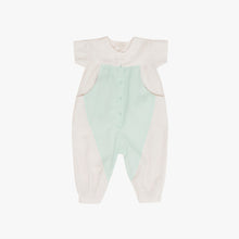 Load image into Gallery viewer, Enid Colorblock Romper, Dune & Tidewater