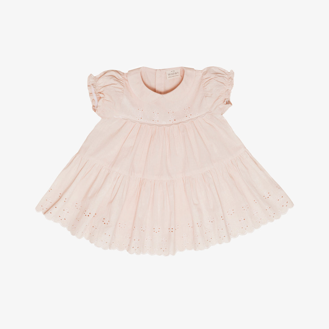 Ophelia Eyelet Dress, Peach Blossom