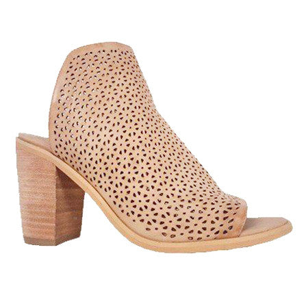 Rebels Ali Mule Shoe Faux Leather Perforated Open Toe Slip On