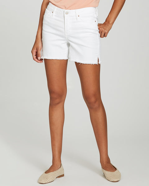 Dear John Denim White Frayed Hem Cutoff Julian Shorts
