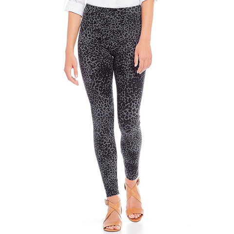 Denim Legging - Leopard