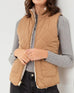 Love Tree Quilted Camel Brown Ivory Shearling Reversible Zip Up Vest Savvy Chic Boutique Cleveland Ohio