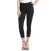 Denim Cuffed Crop Legging - Black