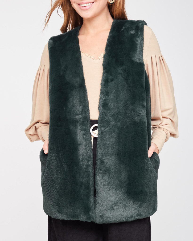 Dancing with Myself Faux-Fur Vest